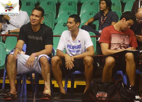 June Mar Fajardo Japeth Aguilar and Greg Slaughter Gilas Pilipinas