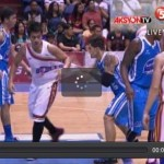 Marc Pingris punching James Sena Video