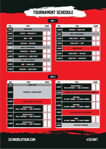 FIBA 3x3 World Tour Manila Schedule