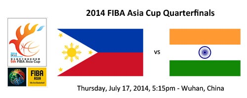 FIBA Asia Cup Quarterfinals: Philippines vs India