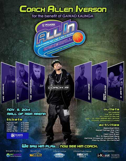 Allen Iverson in Manila for Charity Game