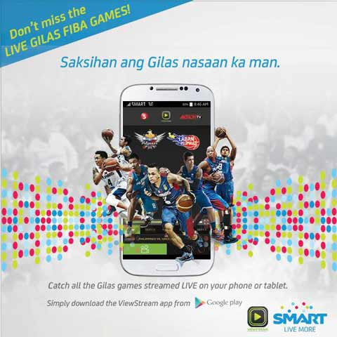 Gilas Pilipinas Games Streamed Live on Mobile Phone or Tablet