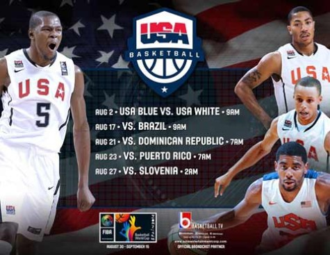 USA Basketball Training Camp TV Schedule
