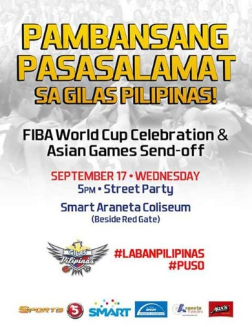 Salamat Gilas Pilipinas at Smart Araneta Coliseum