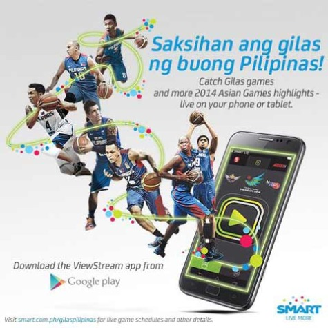 Watch Gilas Pilipinas Games Live and more Asian Games Highlights on your Phone