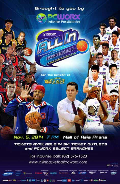 Team Iverson vs Team Cone in All-In Charity Basketball Game