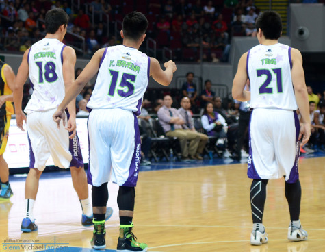 Troy Rosario, Kiefer Ravena and Jeron Teng
