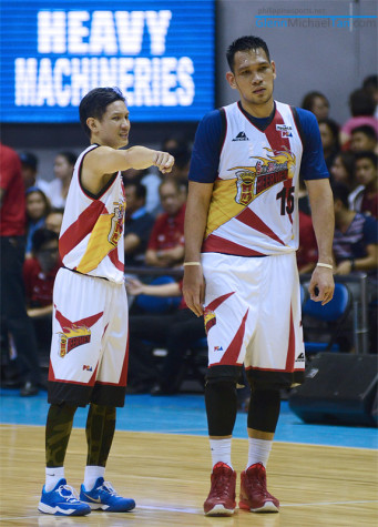 Alex Cabagnot and June Mar Fajardo