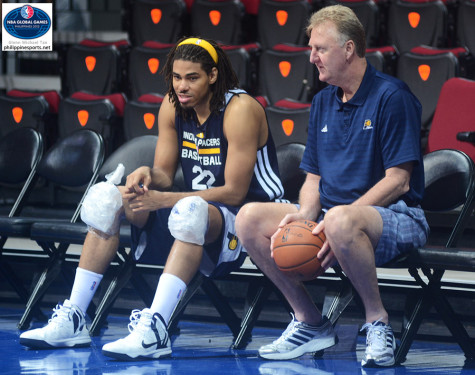 Chris Copeland and Larry Bird