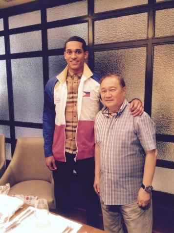 Jordan Clarkson and Manny V Pangilinan