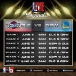 NBA Finals Schedule 2015