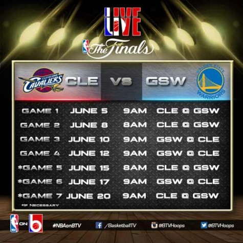 NBA Finals Schedule 2015