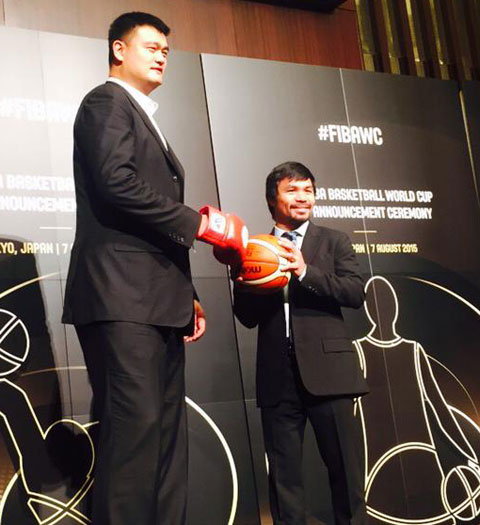 Manny Pacquiao vs Yao Ming for the 2019 FIBA World Cup