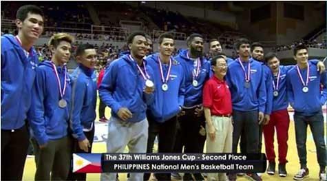 Gilas Pilipinas Silver Medal in 2015 Jones Cup