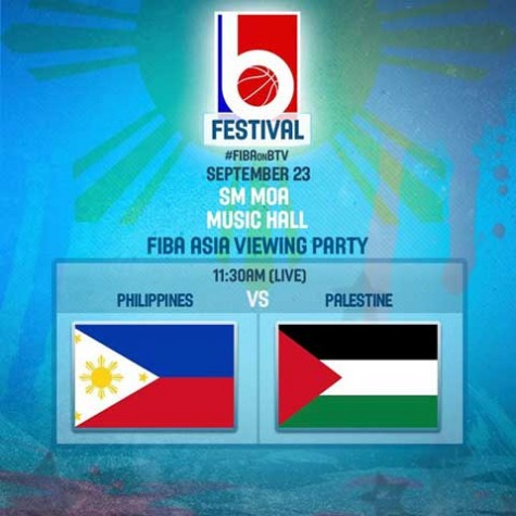 Philippines vs Palestine FIBA Asia Viewing Party