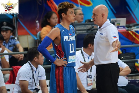 Tab Baldwin and Terrence Romeo