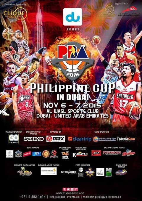 PBA Philippine Cup in Dubai