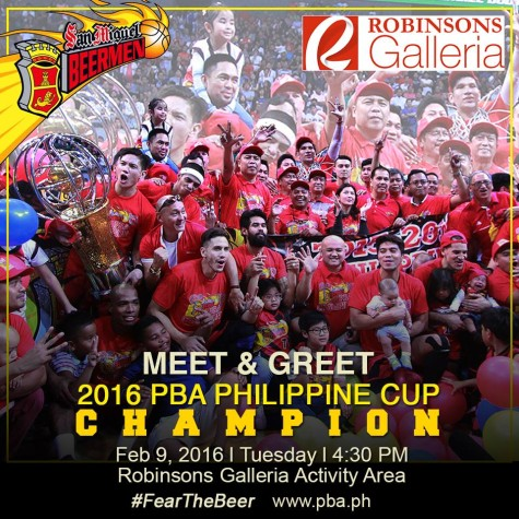 Meet and Greet the 2016 PBA Philippine Cup Champion