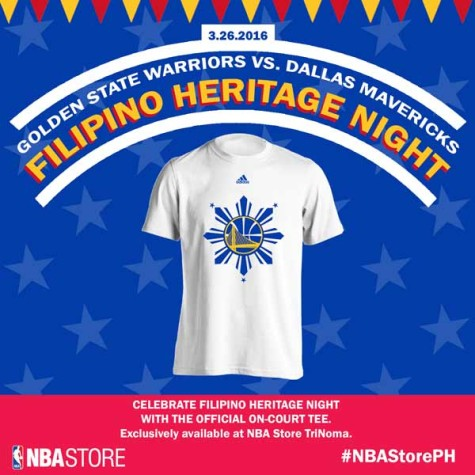 GSW Filipino Heritage Night Shirt available at NBA Store Trinoma