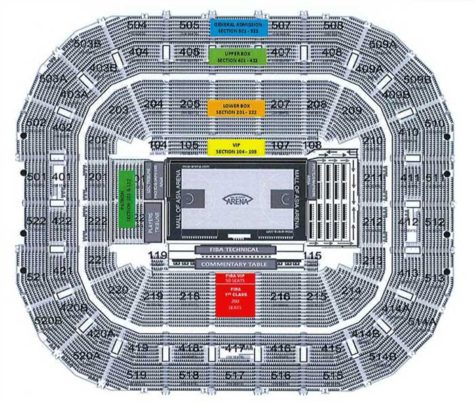 FIBA OQT Manila Tickets and Seat Plan
