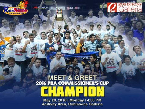 Meet and Greet Rain or Shine - PBA Commissioners Cup Champion