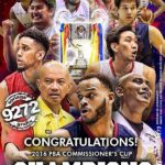 Congratulations Rain or Shine - PBA Commissioners Cup Champions