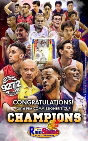 Congratulations Rain or Shine - PBA Commissioners Cup Champions