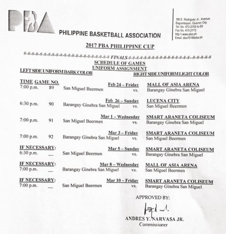 PBA Philippine Cup Finals Schedule