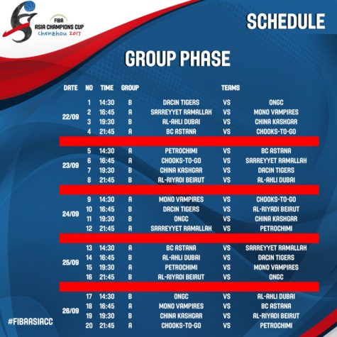 Chooks-to-Go Pilipinas Schedule for FIBA Asia Champions Cup