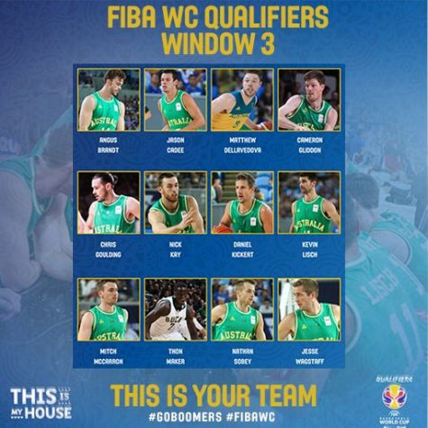 Australia Roster for 3rd window of FIBA Qualifiers