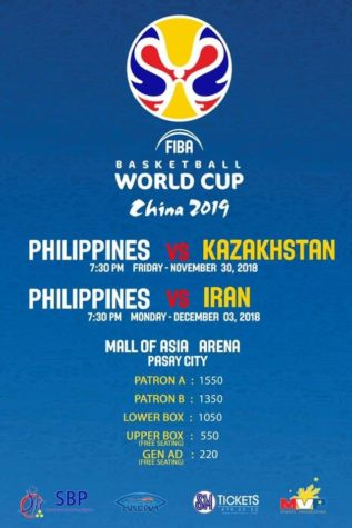Gilas Pilipinas vs Kazakhstan and Iran Tickets